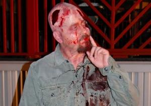 BC Furtney as a zombie