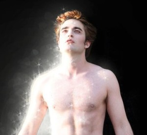 Edward sparking in Twilight