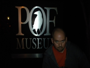 BC Furtney at Halloween, The Poe Museum