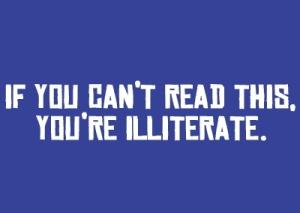 illiterate reading
