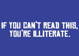 illiterate reading